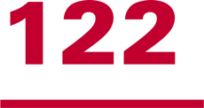 Graphic of the number 122