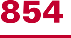 Graphic of the number 854