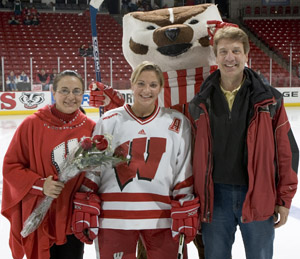 Nikki Burish with her Parents
