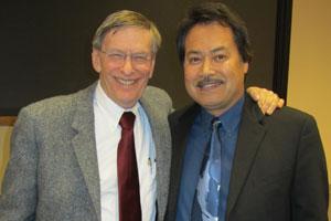 Bud Selig with Professor Samuel O. Regalado